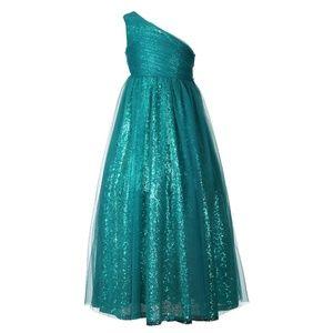 Other - One Shoulder Girls Formal Sequin Dress